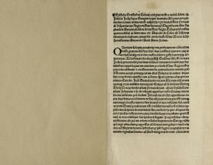 The Barlow/BPL copy of the Columbus letter, lot no. 569 (Q.405.6). Click here to view digitized copy.