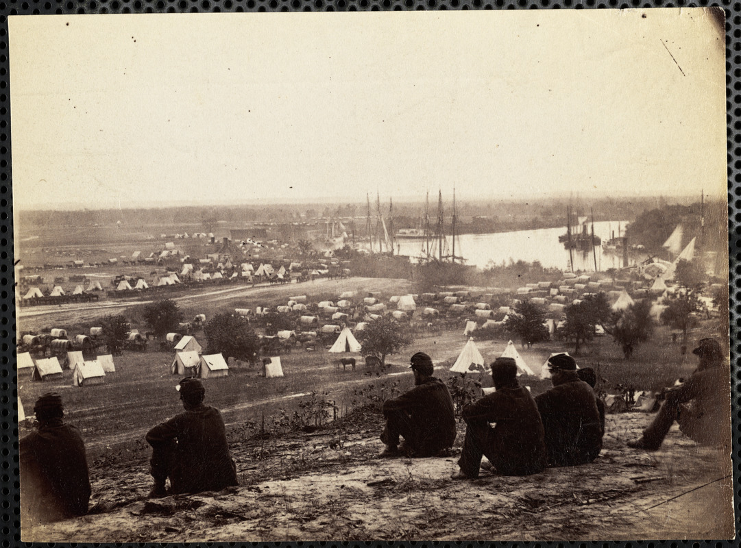 Lanscape of a Civil War army camp