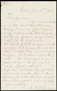 Letter from Lydia Marie Child to William Lloyd Garrison about a book called the American Anti-Slavery Almanac, on June 20, 1860