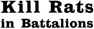 """Kill Rats in Batallions:"" a British rodenticide advertisement, 1920"