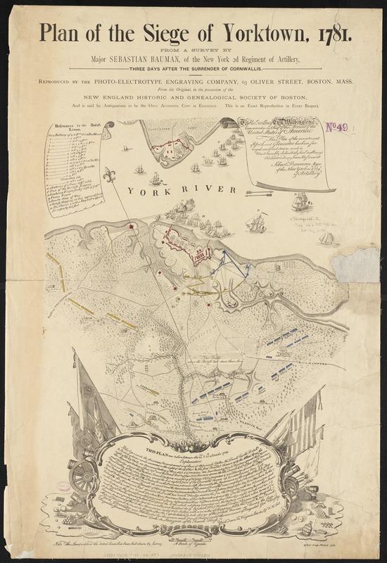 Plan of the Siege of Yorktown, 1781, map