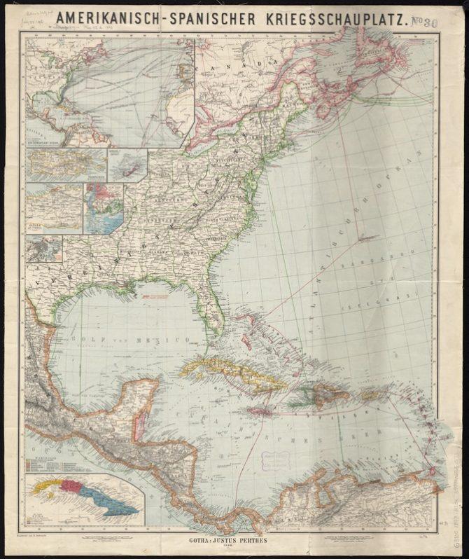 German Map of the Spanish American War