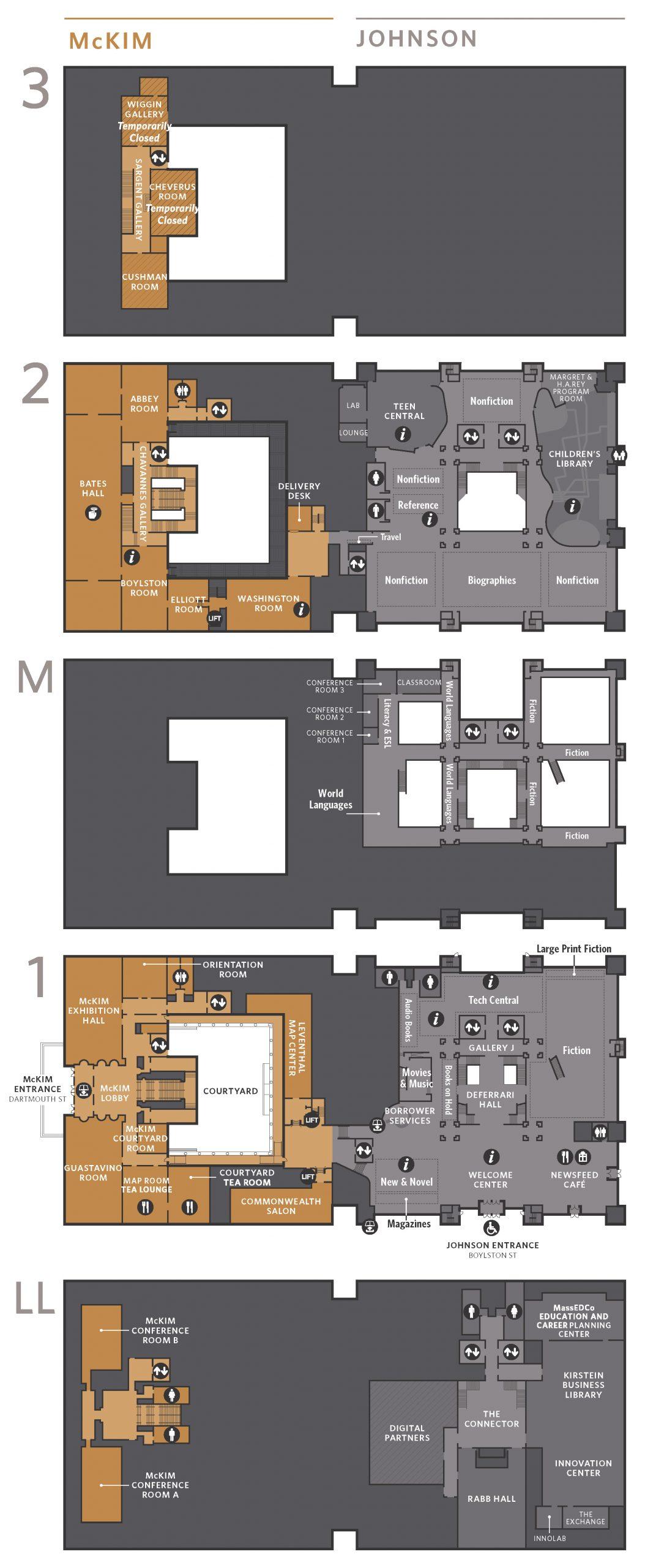 Floor Plan Boston Public Library